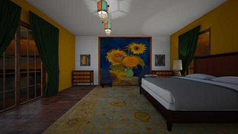 sunflower 1 - Eclectic - Bedroom  - by decordiva1