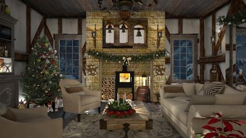 Design 482 Tudor Christmas - Living room  - by Daisy320
