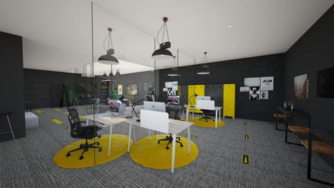 Social Distance Office - Modern - Office  - by danes