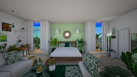 Jungle Room - Modern - Bedroom  - by Sophia Cooper