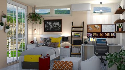 College Flat - Bedroom - by allessa