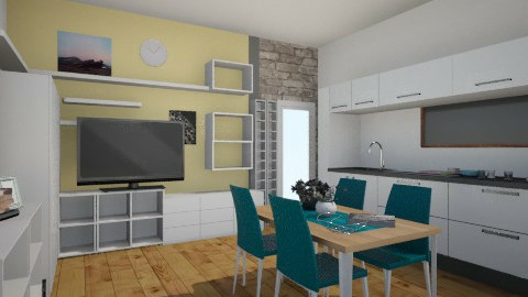 Salon 2 - Minimal - Living room  - by aste44