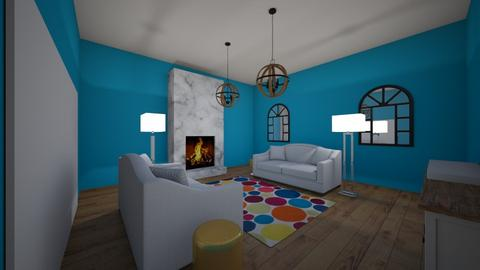U shape  - Living room - by gabagail45