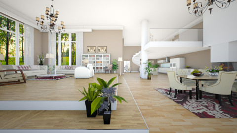 Spacious Open Plan - Classic - Living room  - by janip