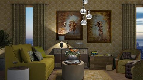 art deco living - Living room  - by nat mi