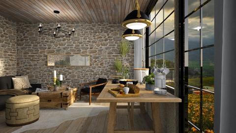 breakfast - Rustic - Living room  - by jjannnii