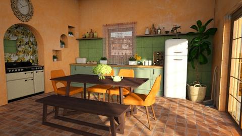 Autumn Kitchen - Rustic - Kitchen  - by hiiamdani