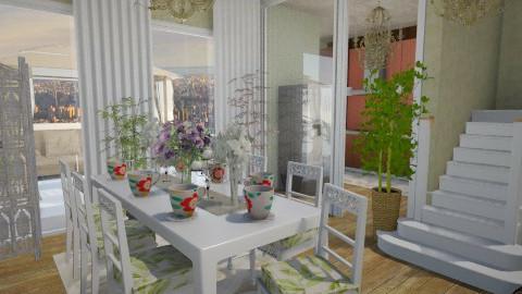 Floral Kitchen n Dining - Kitchen  - by glxtterdew