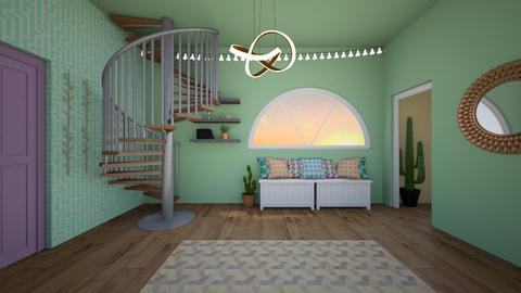 modern playful hallway - by annabelzbee