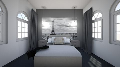 Black and white room - Classic - Bedroom  - by Agamanta