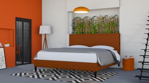 Bedroom_Orange - Bedroom  - by Yudum Kutlu