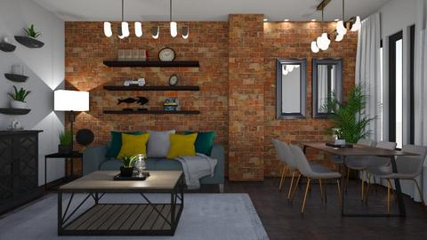 NYC LOFT - Living room  - by creato