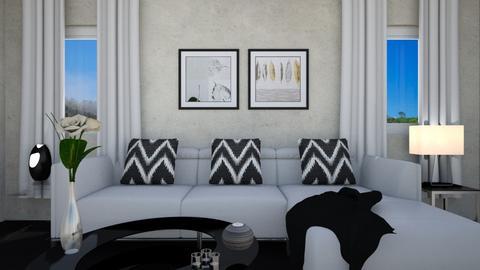 B n W - Minimal - Living room  - by aggelikimar
