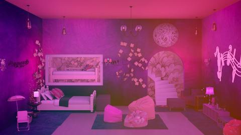 Pink and Purple Bedroom - Bedroom  - by Jahsoftball_