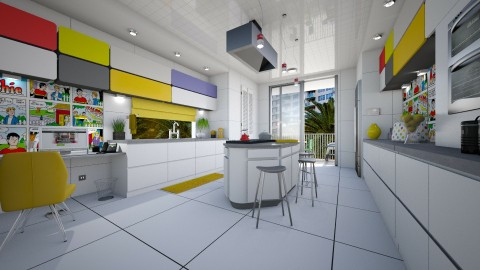 pop color - Modern - Kitchen  - by Lackew