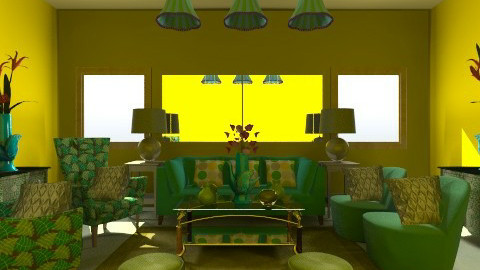 green living room - by clarisse36