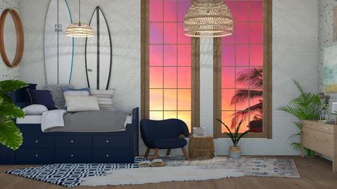 Surf Culture B - Bedroom - by NEVERQUITDESIGNIT