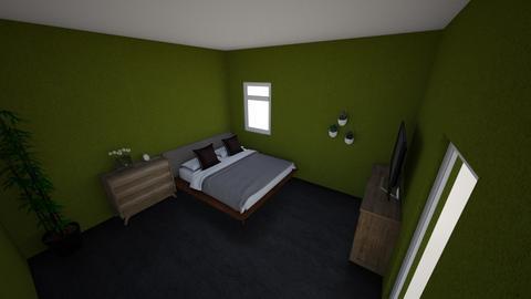 brown green bedroom - Bedroom  - by warnerlo
