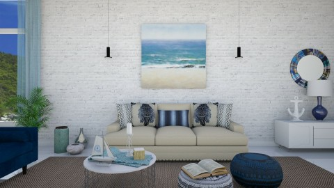 Near the Beach - Classic - Living room - by DeborahArmelin
