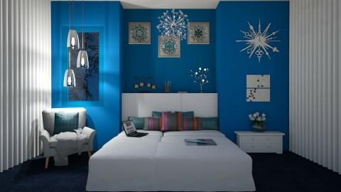 Bluish Life by Uroosa - Classic - Bedroom  - by Uroosa Bint E Haroon