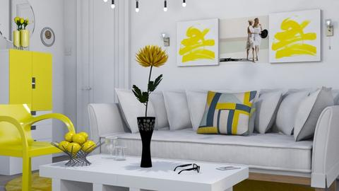 M_ yellow chair - Living room  - by milyca8