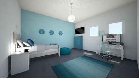 Blue Galore - Minimal - Bedroom  - by Cameron Dunewood