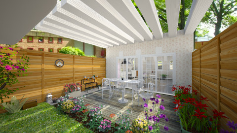 chabby garden - Retro - Garden  - by Angela Quintieri