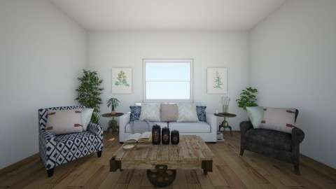 rustic - Rustic - Living room  - by malsbro