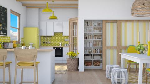 Yellow kitchen - Kitchen  - by Charipis home