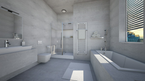 Virtual In Concrete - Bathroom  - by MandyB84