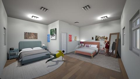 siblings room - Minimal - Bedroom  - by crazyA