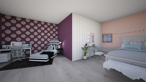 Opposite Twins - Bedroom  - by Bennetteg