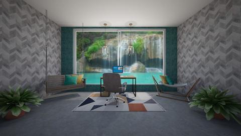 Modern playful office - by KierraClumdesign