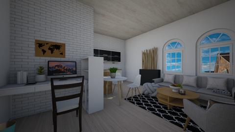 living room with kitchen - Living room  - by Roomplaner321