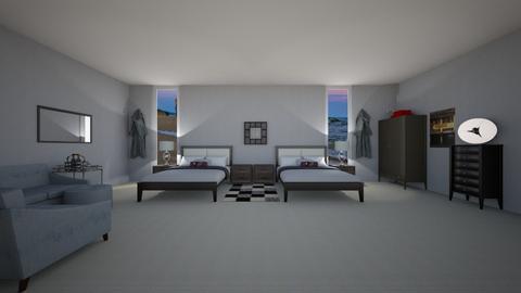 modern hotel bedroom - Modern - Bedroom  - by 29catsRcool