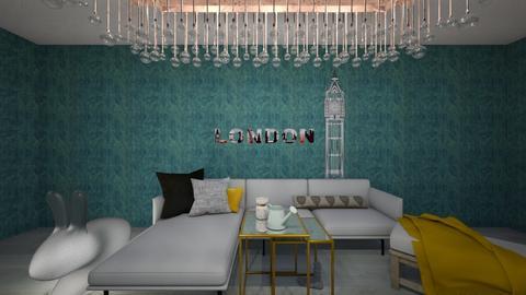 Aqua Living - Rustic - Living room - by Pauuu UwU
