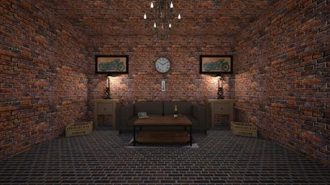 The brick living room - Classic - Living room  - by Its hamzah