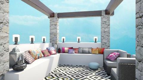moroccan terrace - Garden  - by minervinoi