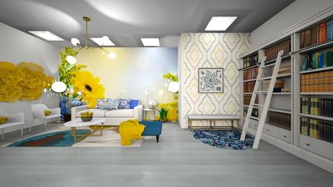 Blue and Yellow Living - Living room  - by Feeny