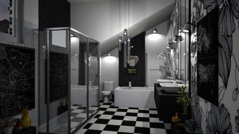 bath bw - Eclectic - Bathroom  - by paobanegas