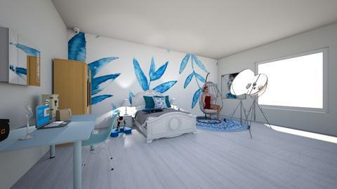 Youtuber girl room_Blue - Modern - Bedroom  - by Agamanta