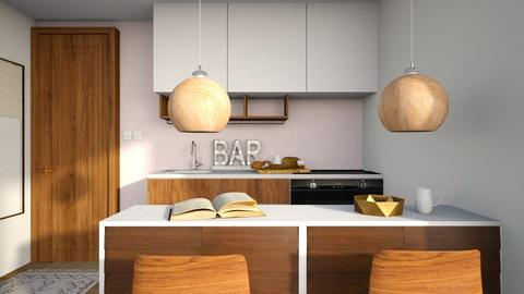 Modern House Bar - Kitchen - by GinnyGranger394