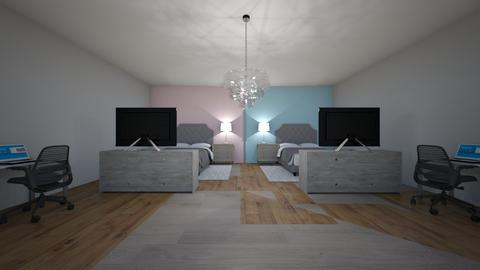 Twin teenagers bedroom - by Coolpeople2020