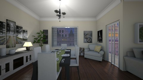 0001223 - Modern - Dining room - by GALE88