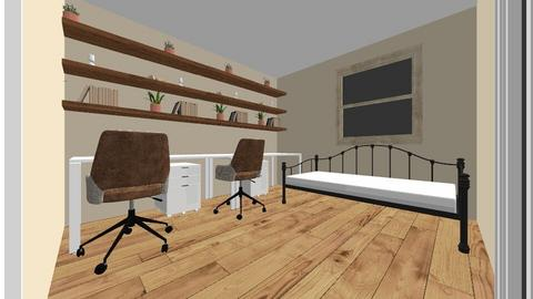 Cat Room 3 Two Desks - Bedroom  - by anelsey