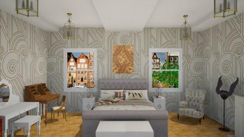 Classic Vintage Bedroom - Vintage - Bedroom  - by yourjieee