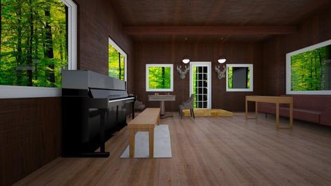 log cabin - by smirk4u