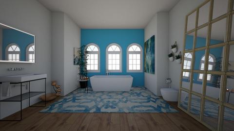 Nautical Themed Bathroom - Bathroom  - by Zipintomyheart