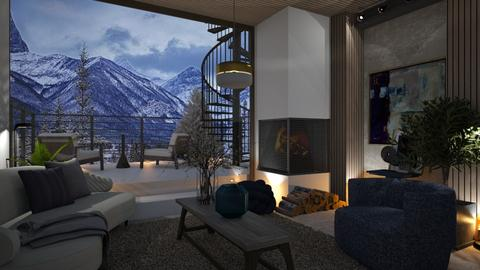 CHAMONIX - Living room  - by zarky