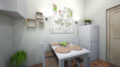 apartment kitchen - Kitchen  - by Andreea Lazarut